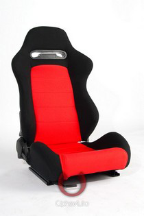 1998-2000 Nissan Frontier Cipher Racing Seats - Black and Red Cloth