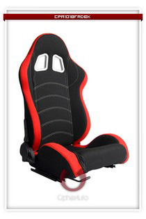 2004-2005 Honda Civic Cipher Racing Seats - Red Cloth with Black Trim