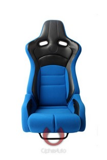All Cars (Universal), All Jeeps (Universal), All Muscle Cars (Universal), All SUVs (Universal), All Trucks (Universal), All Vans (Universal) Cipher Viper Series Racing Seats - Blue Black Cloth/Polyurethane Leather with Carbon Fiber Polyurethane