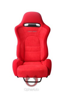 All Cars (Universal), All Jeeps (Universal), All Muscle Cars (Universal), All SUVs (Universal), All Trucks (Universal), All Vans (Universal) Cipher E-8 Series Racing Seats - Red Cloth with Suede Insert