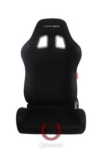 All Vehicles (Universal) Cipher M-8 Racing Seats - All Black Fabric with Anti Slip