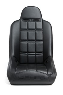 Universal Cipher Auto Fixed Bucket Suspension/Jeep Seats, Black Leatherette