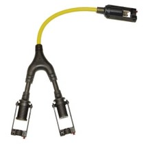 1968-1984 Saab 99 Clip Light Manufacturing Revolutionary Extension Cord Male to Dual Female EZ Lock Connector