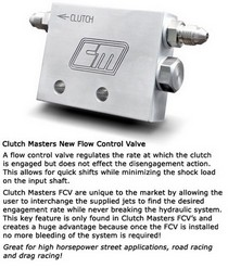 1970-2011 All Models Flow Control Valve (FCV2000), All Jeeps (Universal) Clutch Master Flow Control Valve
