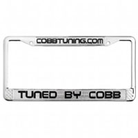 2003-2006 Mercedes Sl-class COBB Tuning License Plate Frame - Chrome