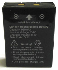 1995-1999 Dodge Neon Cobra Two-Ways Radio Accessory - Battery pack for LI 3900-series, LI4900-series, LI5600-series, LI 6000-series