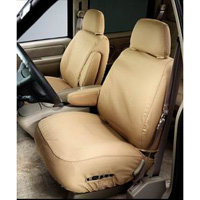 03-04 Ford Explorer 4 Door - 60/40 Seat With Adjustable Headrests & Shoulder Belt In Center Section Covercraft Seat Saver Polycotton (Taupe)