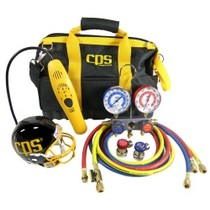 Universal (All Vehicles) CPS Products Tool Bag Kit With Leak Detector and Manifold