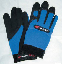 All Vehicles (Universal) Cusco Medium Mechanic Gloves (Sky Blue / Black)