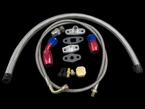 All Vehicles (Universal) CX Racing Turbo Oil Feed Line Kit (AN4/AN10 Return Drain / T3/T4 Oil Pan Plug)