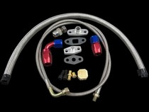All Vehicles (Universal) CX Racing Turbo Oil Line Kit (AN4 Feed Return / AN10 Drain Pan Plug)
