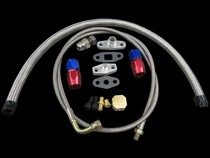 All Vehicles (Universal) CX Racing Turbo Oil Line Kit (Feed / Return Drain / T4/T04B Pan Plug)