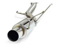 01-04 Honda Civic EX 2DR DC Sports Exhaust Systems - Single Canister (Stainless Steel)