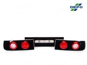1990 1996 Nissan 300zx Depo Black 3 Pieces Rear Tail Lights Set