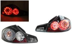 2007 2008 Infiniti G35 4d Depo Black Tail Lights Set