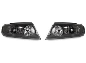 1998 2002 Lincoln Navigator Depo Black Headlights Set