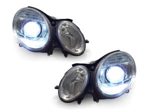 Depo 340-1117PXAS2 Mercedes Benz E Class Black Headlight Assembly Projector