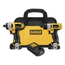 2008-9999 Smart Fortwo Dewalt Tools 12 Volt Lithium Ion Screwdriver/impact Kit