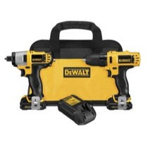 Universal (All Vehicles) Dewalt Tools 12 Volt Lithium Ion Drill/impact Combo Kit