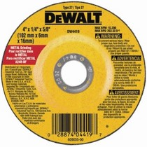 "2003-2008 Nissan 350z Dewalt Tools 4"" x 1/4"" x 5/8"" High Performance Metal Grinding Wheel"