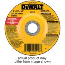 "1973-1991 Chevrolet Suburban Dewalt Tools 4-1/2"" x 1/4"" x 7/8"" High Performance Metal Grinding Wheel"