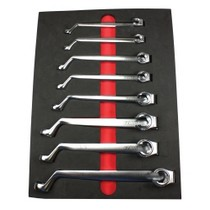 1972-1980 Dodge D-Series E-Z Red 7 Piece 75 Degree Offset Metric Flarenut Wrench Set
