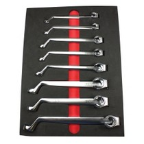 1972-1980 Dodge D-Series E-Z Red 8 Piece 75 Degree Offset SAE Flarenut Wrench Set