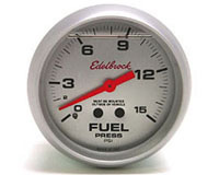 All Jeeps (Universal), Universal - Fits all Vehicles Edelbrock Nitrous Oxide - Fuel Pressure Gauge - 2-5/8