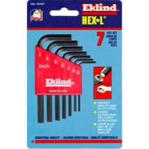1999-2007 Ford F250 Eklind Tool Company 7 Piece SAE Short Hex-L Hex Key Set
