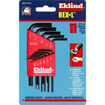 1972-1980 Dodge D-Series Eklind Tool Company 11 Piece SAE Short Hex-L Hex Key Set