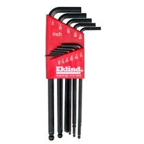 1987-1990 Nissan Sentra Eklind Tool Company 11 Piece SAE Long Ball End Hex-L Hex Key Set