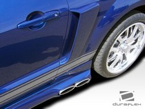 2005-2009 Ford Mustang Duraflex Scoops - CVX Side Scoops