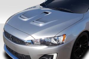 Mitsubishi Lancer Fiberglass Hoods at Andy's Auto Sport