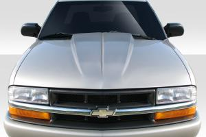 Chevrolet S10 Extreme Dimensions Fiberglass Hoods at Andy's