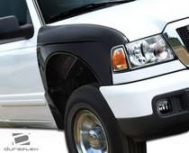 Sm Ranger Inbulgefenders on Black Dodge Dakota Custom Hoods