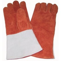 1998-2000 Chevrolet Metro Firepower Welders Gloves With Thumb Strap, Russet - Brown