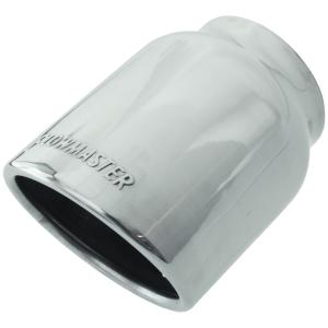 "2004-2007 Ford Freestar Flowmaster Exhaust Tip - Logo Embossed - Polished Stainless - Rolled Edge / Angle Cut - 4"" Inlet / 3"" Outlet"
