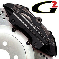2002-2003 Honda_Powersports Valkyrie G2 Caliper Paint - High Temperature Brake Caliper Paint System Set (Black)