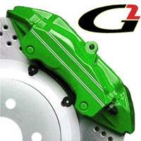 1989-1992 Ford Probe G2 Caliper Paint - High Temperature Brake Caliper Paint System Set (Green)
