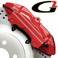 2002-2003 Honda_Powersports Valkyrie G2 Caliper Paint - High Temperature Brake Caliper Paint System Set (Red)