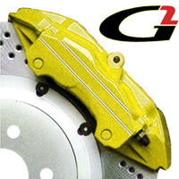 2002-2003 Honda_Powersports Valkyrie G2 Caliper Paint - High Temperature Brake Caliper Paint System Set (Yellow)