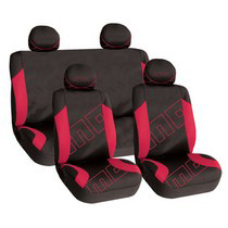 1988-1991 Honda Prelude G International Momo Seat Covers - Black/Red