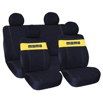 1988-1991 Honda Prelude G International Momo Seat Covers - Black/Yellow