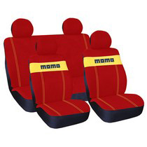 1988-1991 Honda Prelude G International Momo Seat Covers - Red/Yellow