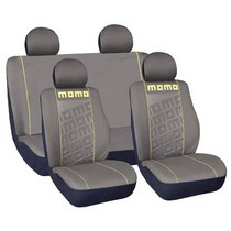 1999-2006 GMC Sierra G International Momo Seat Covers - Grey/Yellow