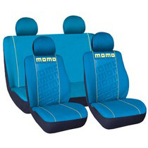 1988-1991 Honda Prelude G International Momo Seat Covers - Aqua/Yellow