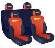 1999-2006 GMC Sierra G International Momo Seat Covers -Low Back 4 Pc Red/Black/Yellow
