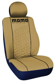 1963-1967 Chevrolet Corvette G International Momo Seat Covers-Low Back 4 Pc Tan/Black