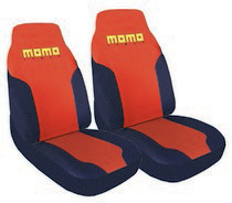 1999-2006 GMC Sierra G International Momo Seat Covers-High Back 2 Pc Red/Black/Yellow