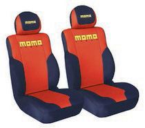 1999-2006 GMC Sierra G International Momo Seat Covers -Low Back 2 Pc Red/Black/Yellow